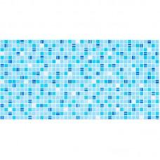 Панель ПВХ 0,3 мозайка Микс голубой