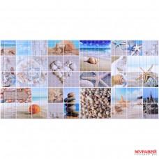 Панель ПВХ 0,3 мозайка Морской берег