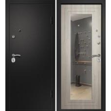 Дверь АРИЗОНА-222 (Дуб филадельфия Крем 111Z прав Б/ГЛ Сатин черный 880*2050 R глазок сбоку)
