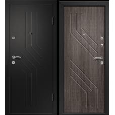 Дверь АРИЗОНА-215 (Дуб грей 56 Сатин черный 880*2050 L)
