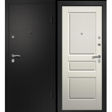Дверь АРИЗОНА-220 (Лиственница белая S-6 черн. лак Сатин черный 860*2050 L)